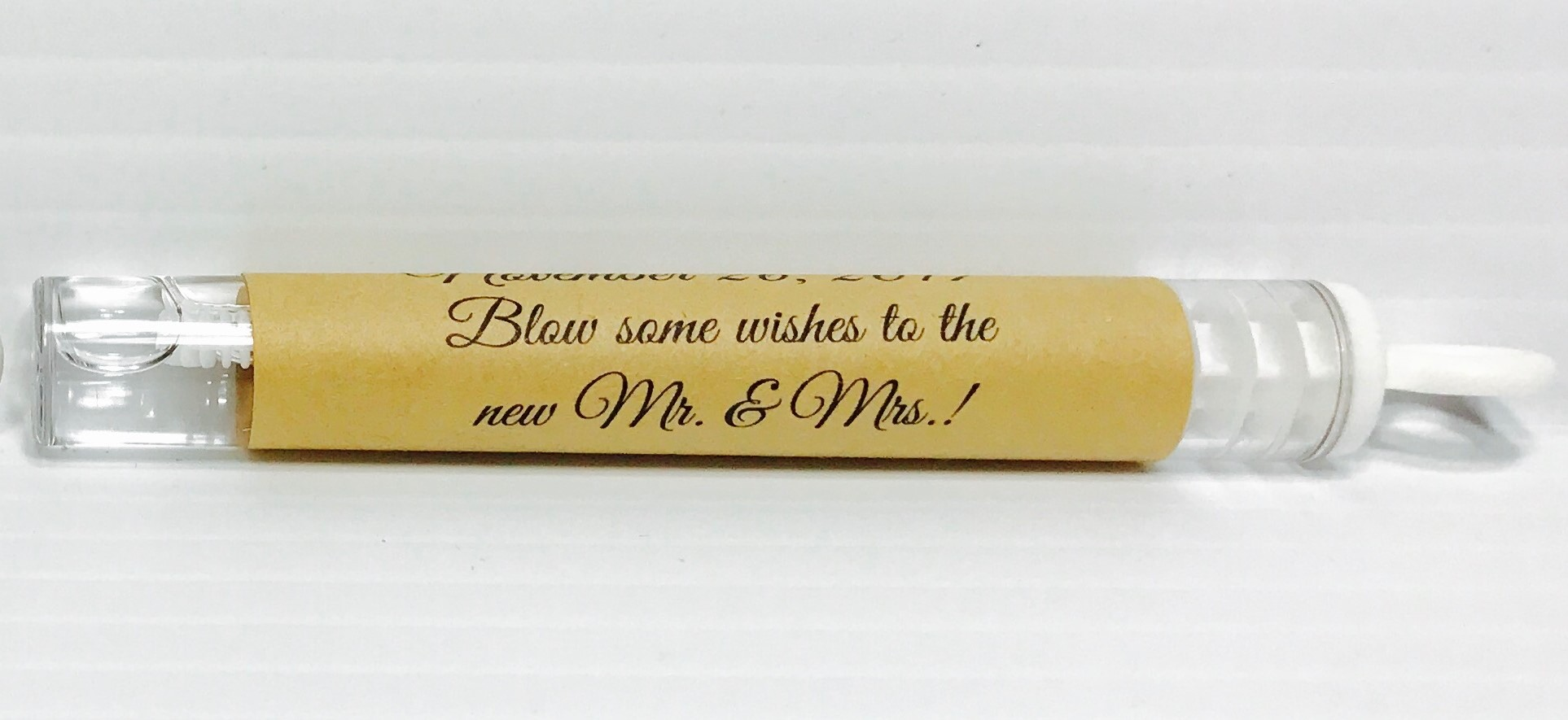 108 Rustic Themed Personalized Mini Bubble Tube adhesive labels ...
