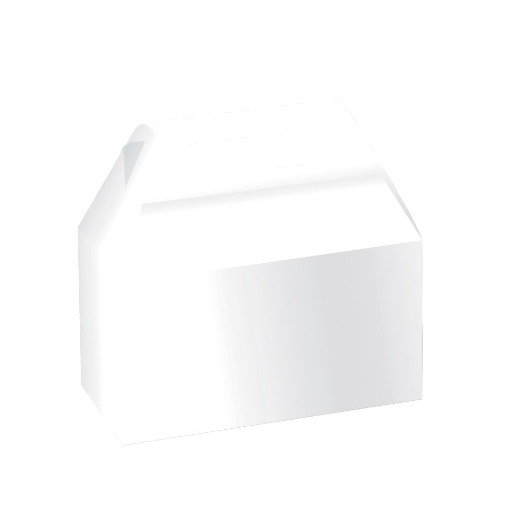 8 White Cookie/Cake Favor Boxes with Handles for Wedding, Birthday ...