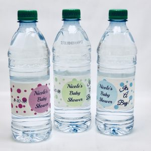 20 Personalized Polka Dot Themed Waterproof Water Bottle Labels/Stickers for Girl or Boy Baby Shower \u2013 Makes Great Party Favors  sc 1 st  Just For My Party & 36-Pack Candy Pink Square 9-inch Dinner Paper Plates for Wedding ...